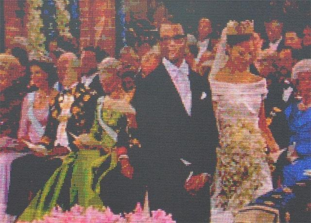 It was a royal wedding in Sweden in June 2010. I was not in the church... and took a photo of the big screen outside the church. The image is cropped, but not processed in photoshop.