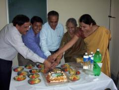 Birthday party in Department of Pediatrics