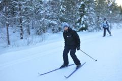 Gustav (son) and Katarina (wife) skiing this winter (2010).