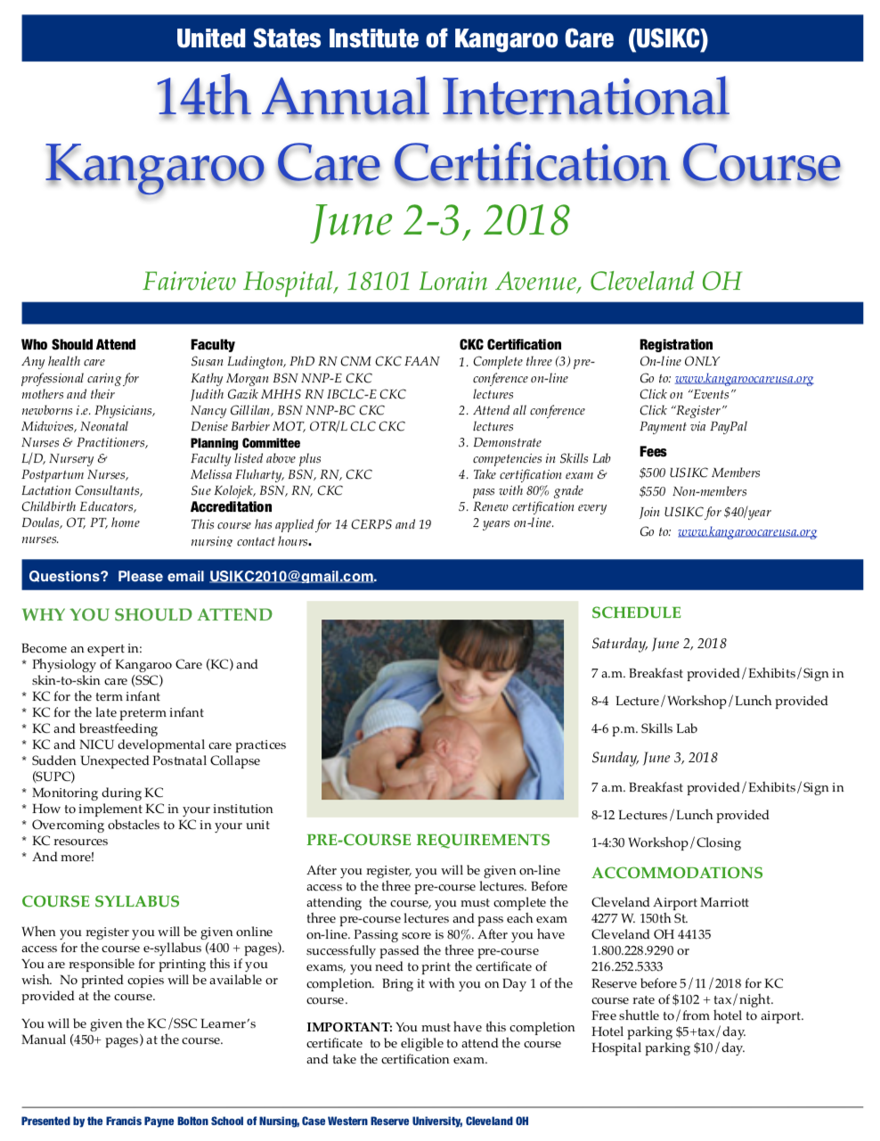 14th Annual International Kangaroo Care Certification Course