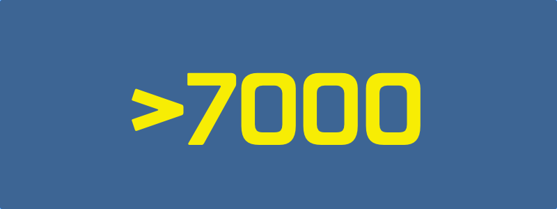 We have become >7000!